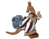 kangaroo and baby and koala - soft sculpture