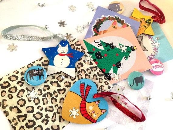 Christmas Lucky Bag Grab Bag Cat Christmas Card Cats I