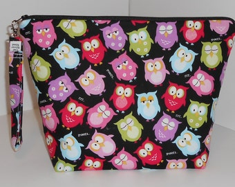Colorful Owls project bag
