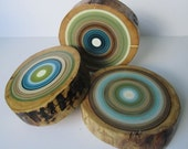 Reclaimed Tree Ring Wall Art - Eco Friendly - Made from Barn Beams - Set of 3 (3RTRWA2)