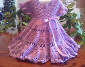 sz 9 to 12 mo crocheted dress