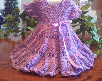 sz 9 to 12 mo crocheted dress