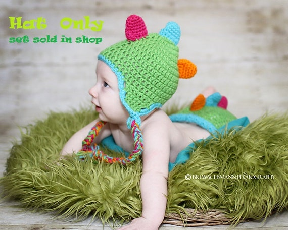 Cute-A-Saurus Dinosaur Hat- Made to Order- Any Size-HAT ONLY