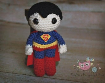 Made to order Crochet superman inspired doll