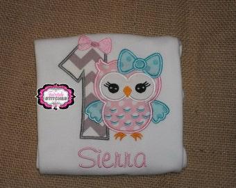 Owl Birthday Shirt, Owl Birthday Girl Birthday Shirt, First Birthday Shirt, Birthday Shirt, Owl Shirt