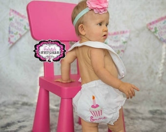 Cupcake Diaper Cover, Cupcake Birthday, First Birthday, Cake Smash, Diaper Cover, Birthday Bloomer
