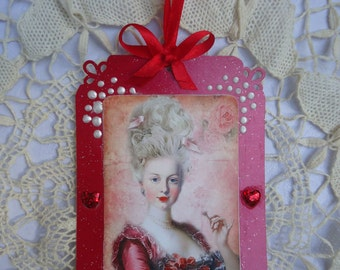 Marie Antoinette  -  Large gift/decorative tag -