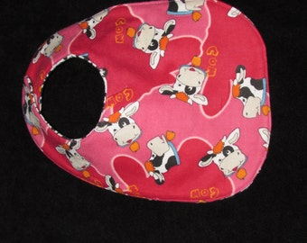 Baby Bib - Cow featuring happy Jersey Cows, BB014