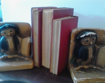 Vintage Owl Bookends