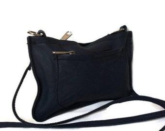 Mini crossbody bag Genuine small blue womens messenger miniature handbag handmade handbags and purses