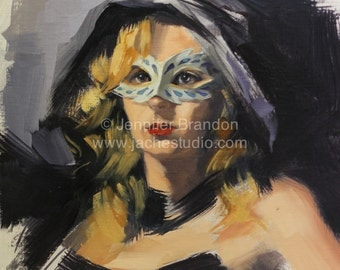 The Theatrical Portrait - Oil Painting by Jennifer Brandon