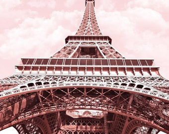 Buy 2 Get 1 FREE, Paris Photography in pink, Eiffel Tower, Paris Photo, France, Instant Download, Digital, Printable Fine Art Photography
