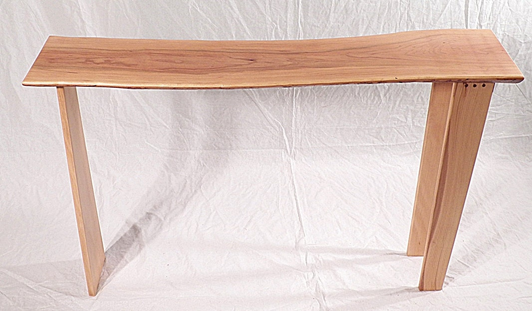 live edge sofa table