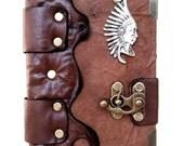 Handmade Unique Indians Steampunk Leather Journal Notebook Sketchbook
