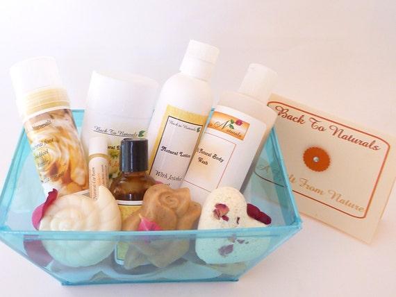 Items Similar To Bath Gift Set Natural Bath And Body Gift Basket Spa Gift