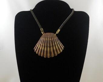 Scallop Seashell Pendant