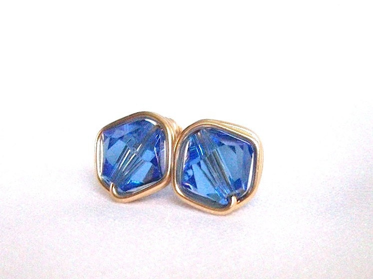 September happy birthday sapphire gold filled stud earrings for Sapphire studios jewelry reviews
