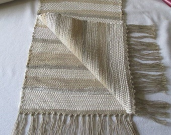 table runner, table rug,  bureau scarf ,  table topper,  beige-cream, 41""