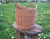 LARGE Willow Laundry Basket, Uniquely Curved Ergonomic Design, fits front load machines, Integral Handles