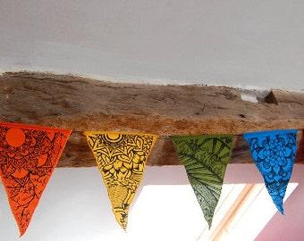 Sophie nina rainbow mandala bunting / prayer flags