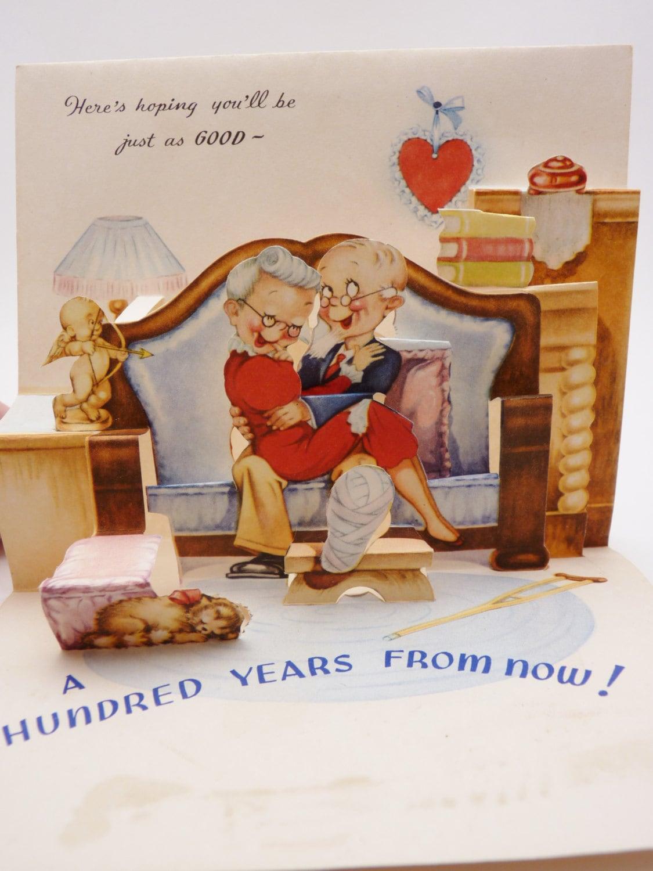 vintage greeting card pop up design wedding anniversary