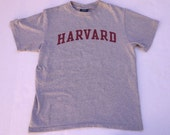 Harvard University Adult Gray T shirt M Medium Boston Mass