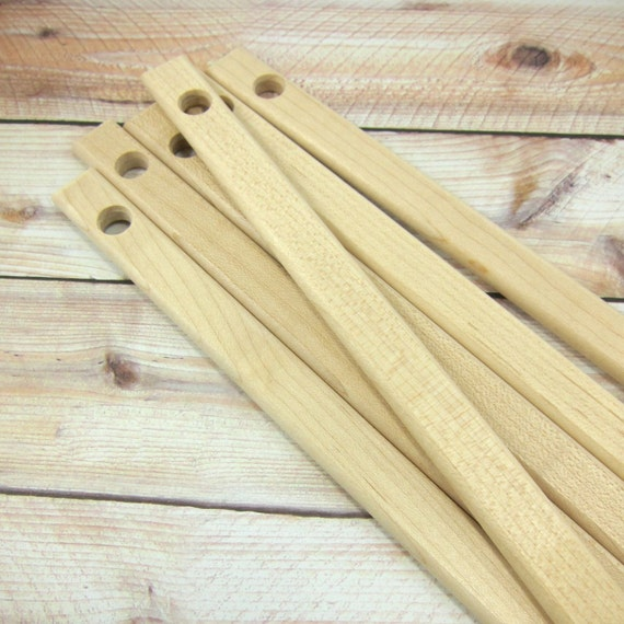 Plant Markers Herbs Garden Signs - Hardwood Maple, Unfinished, DIY - Set of 10