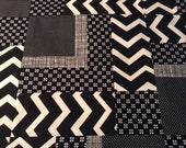 Unfinished black and white quilt top RESERVED