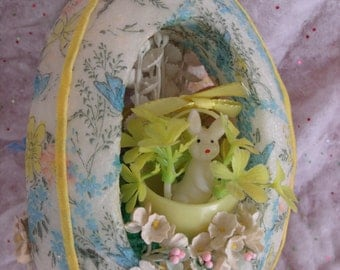 Vintage Easter Decoration, Vintage Easter Miniature