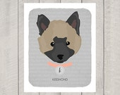 Keeshond - Dog Nursery Art Print - Custom