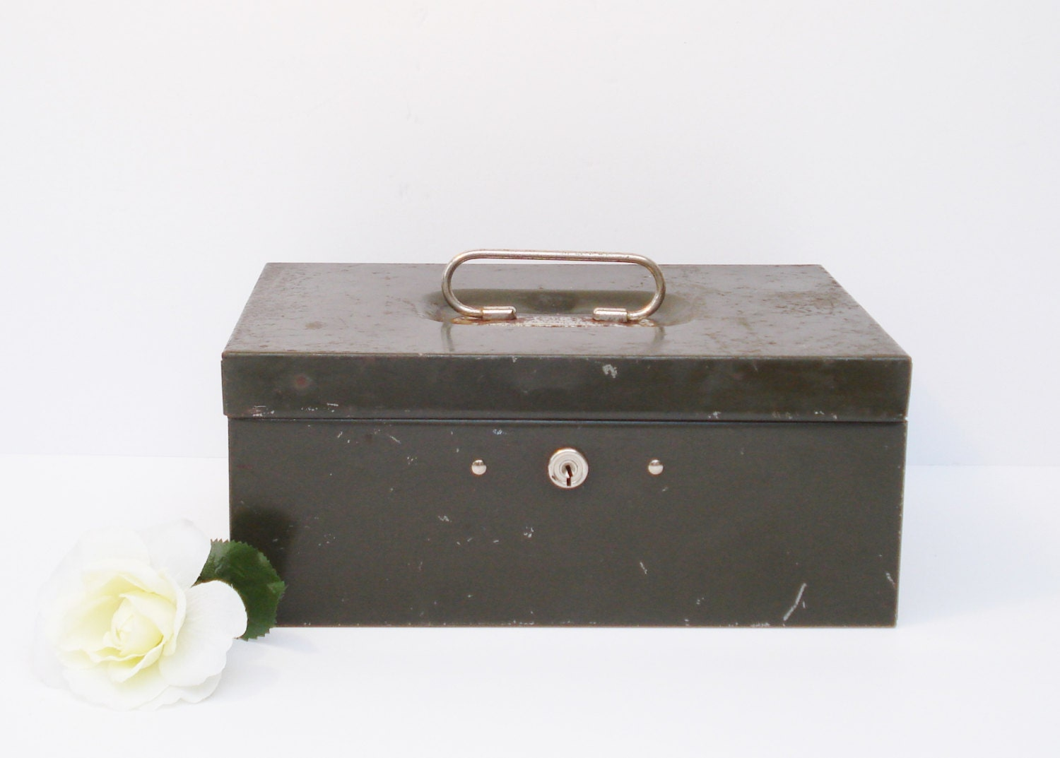 decor containers coles vintage army green metal box cole steel equipment co 10196