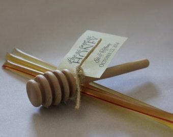 Honey Sticks Wedding Favors // Honey Wedding Favors // Love as sweet as honey wedding favors // SET OF 35
