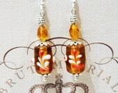 Amber Blown Glass Earrings