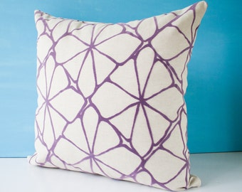 Purple pillow cover, decorative throw pillow, cushion cover, accent pillow, pillowcase, purple cushion cover, modern pillow - 18 x 18 inches