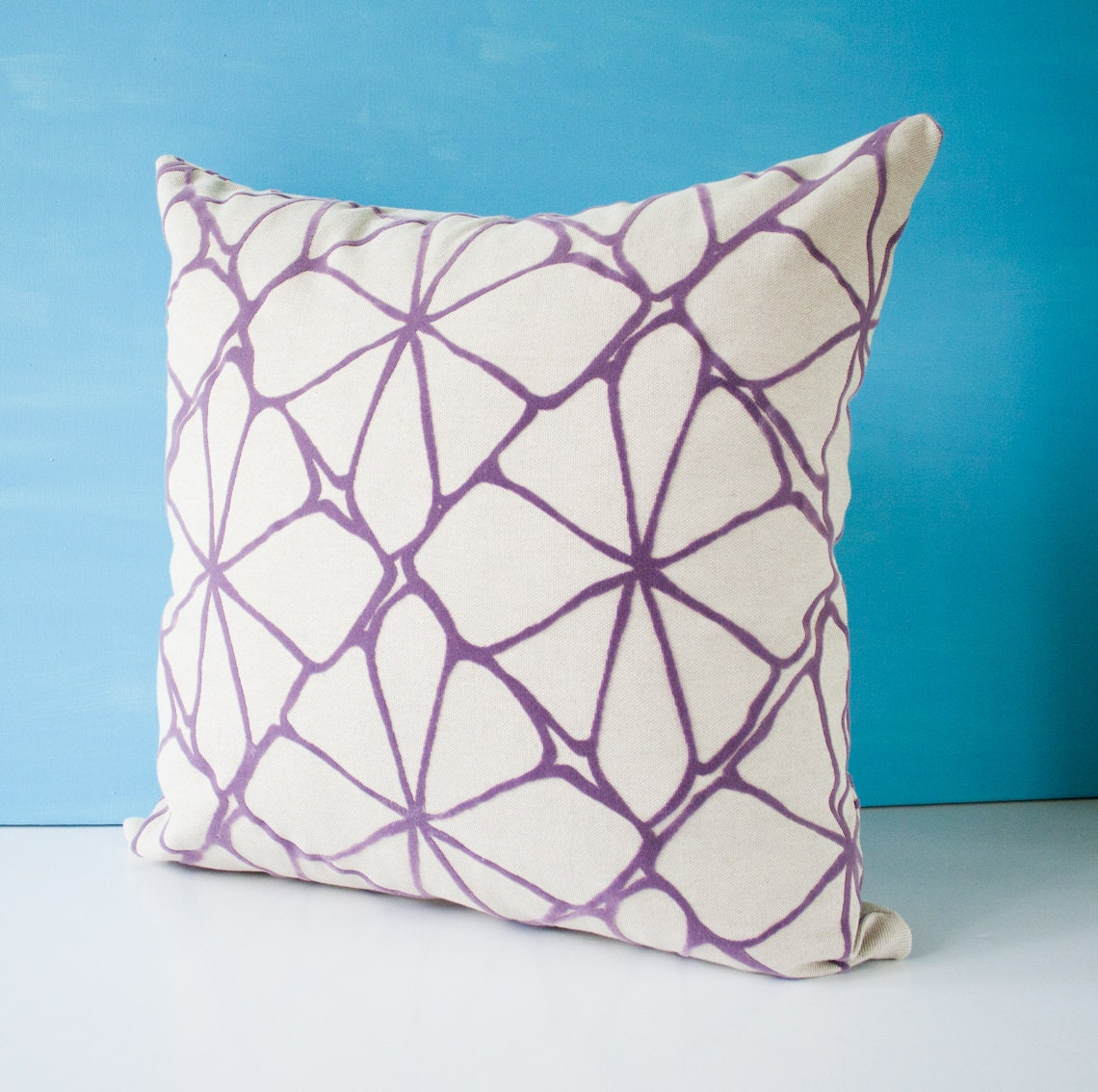 Purple pillow cover decorative throw pillow cushion by pillowdy