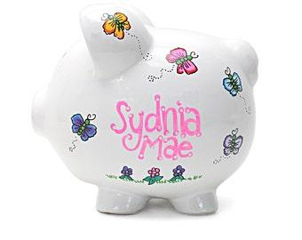 Butterflies 2 Piggy Bank