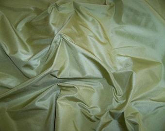 KOPLAVITCH & Zimmer CHARTREUSE GREEN  Silk Taffeta Fabric 50 Yard Bolt