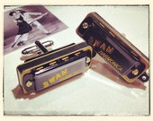 Black Harmonica Cufflinks that actually play by Oh Boy