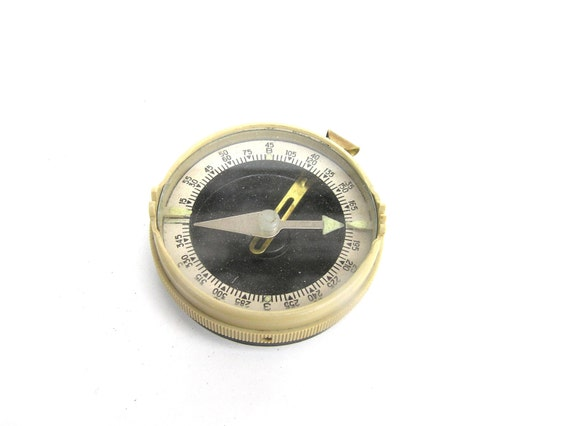Old Compass Soviet Army Military Compass, Compasses Collectibles, Retro Hiker Compass, Russian USSR Compass Compasses, Small Old Compass
