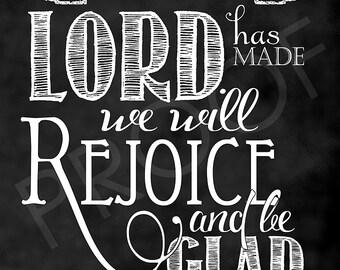 Scripture Art - Psalm 118:24 Chalkboard Style