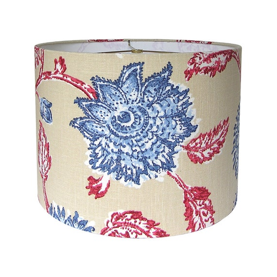 Custom Lamp Shade Floral Lampshade Agathe By Duralee Home