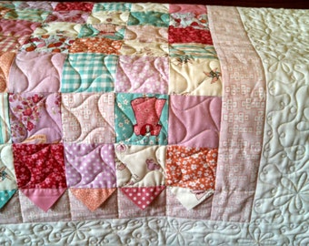Twin Children at Play Patchwork Quilt
