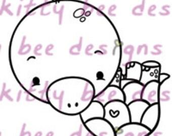 Honu (Turtle) Love III  Digital Stamp