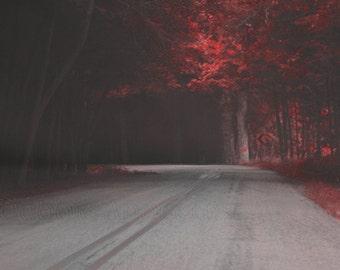 Change Of Plans...Landscape red altered art