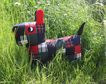 Scott the Tartan Patchwork Puppy.