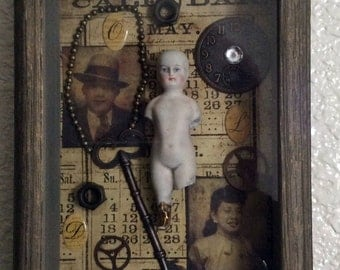 The Days Of Old A Timeless Collage 3 d Shadowbox Original Artwork Vintage Shadowbox ETSY Doll Shadowbox Mixed Media Art Altered Art