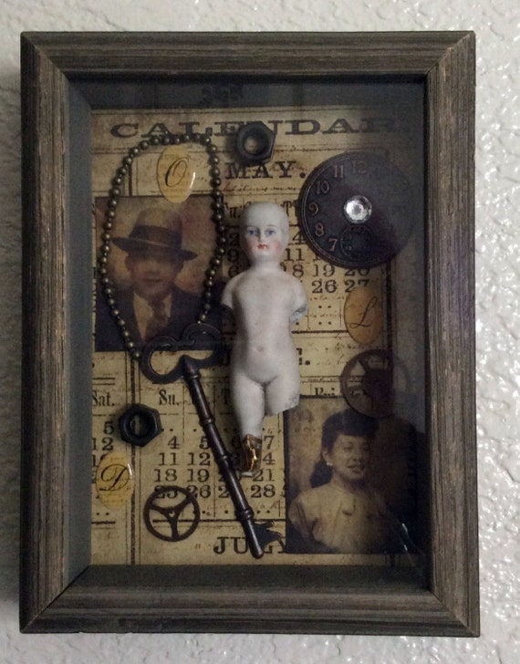 The Days Of Old A Timeless Collage 3 d Shadowbox Original Artwork