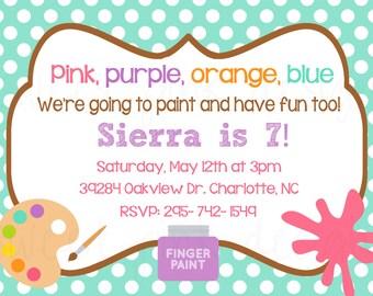 Art Party- Printable Invitation