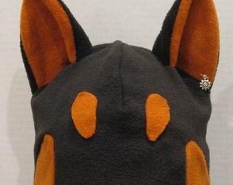 Doberman Pinscher Fleece Hat - NATURAL COLORS