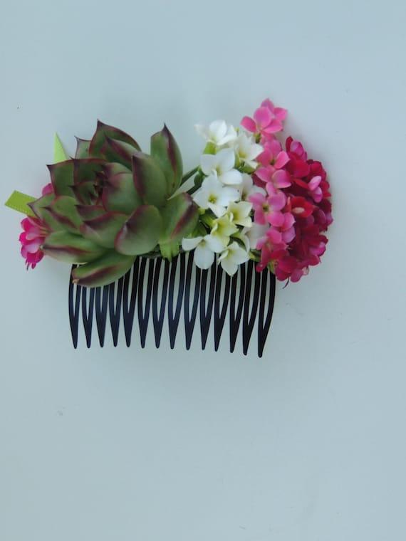 Bridesmaids Hair accessories, Succulent Hair Comb
